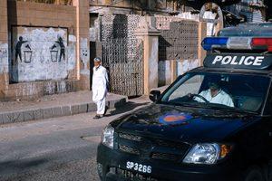 Graffiti pacifiste sur un mur du quartier colonial de Saddar (2014)- Crédits : Laurent Gayer
