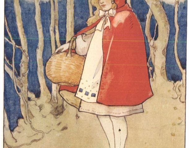 Little Red Riding Hood. From Childhood's Favorites and Fairy Stories, by Various. Domaine public