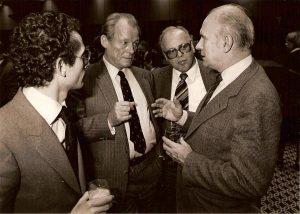 Willy Brandt et Gilles Martinet, fin des années 70 / brandt 001-4 / Fonds Gilles Martinet, CHSP. Droits réservés.