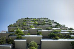 Immeuble vert. CC0 Creative Commons