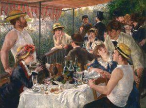 Pierre-Auguste Renoir. Le Déjeuner des canotiers. Crédits : Domaine public