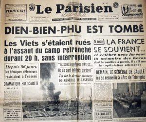 DIEN BIEN PHU EST TOMBE. Une du Parisien. 8/9 mai 1954 by manhhai CC BY 2.0 Flickr