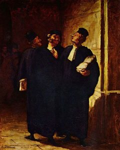 Trois Avocats Causant. Honoré Daumier. Crédits : Public domain, via Wikimedia Commons