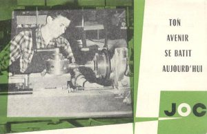 Tract pour la Jeunesse ouvrière chrétienne, 1961. Collection particulière.