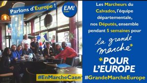 En Marche Caen. La grande marche pour l'Europe. 5 mai 2018. Crédits : EM Instagram