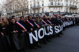 Manifestation républicaine du 11 janvier 2015 Photo : Frédéric de La Mure/MAEDI CC BY-NC-SA 2.0