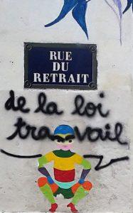 Rue du retrait - de la loi travail - Paris Ménilmontant. Crédit photo : Paule Bodilis. CC BY 2.0