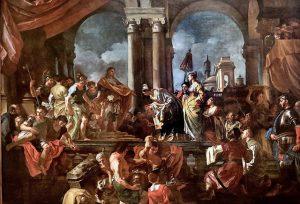 Francesco Solimena. 1657-1747. Naples. La reine de Saba devant le roi Salomon. The Queen of Sheba before King Solomon. 1724 Torino Sabauda, Crédits photo : Jean-Louis Mazieres via Flickr CC BY-NC-SA 2.0