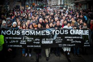 Strasbourg manifestation Charlie Hebdo 11 janvier 2015. Crédit photo : Claude Truong-Ngoc / Wikimedia Commons - cc-by-sa-3.0