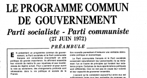 Programme Commun, 27 juin 1972. Archive disponible sur le site du Mouvement politique d'éducation populaire (M'PEP)