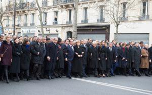 Retour sur la Marche républicaine du 11 janvier 2015. @ Benoît Granier. Matignon