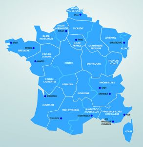 French map, land reform Crédits image : David Torondel, Shutterstock