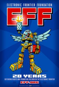Hugh D'Andrade's design to commemorate Electronic Frontier Foundation's 20th Birthday. by Hugh D'A - CC BY 2.0