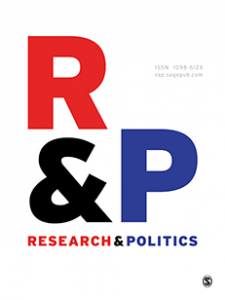 Research & Politics (RAP) Cover. Copyrights : Research & Politics (RAP)