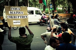 India Against Corruption - Protestors in Pune,India. April 2011. Copyrights: Nirzardp [CC BY-SA 3.0]