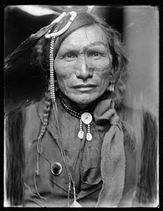 Iron White Man, a Sioux Indian from Buffalo Bill's Wild West Show. Source : Library of Congress.