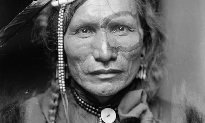 Title: Iron White Man, a Sioux Indian from Buffalo Bill's Wild West Show