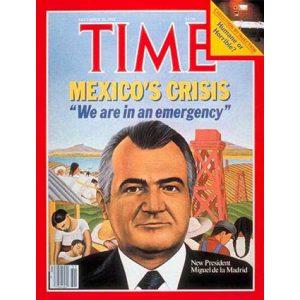 Le Mexique en crise : couverture du Time Magazine du 20/12/1982. - Crédit : D. R.