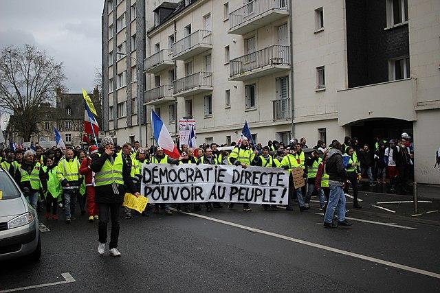 Tours - Manifestation des Gilets Jaunes - février 2019 © GrandCelinien/ CC-BY-SA-3.0