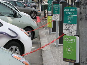 Zipcar Charging Station in San Francisco, California. © Felix Kramer (CalCars). CC BY-SA 2.0