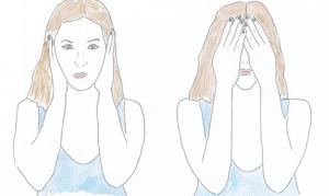 Femme qui ne veut ni voir ni entendre. Crédits dessin : Jeanne Hagenbach