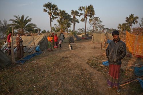 Kuakata, Bangladesh, January 2008: A group of cyclone Sidr. ©Salvacampillo,/Shutterstock