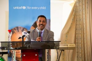 Daniel Assefa, Head of the Bureau of Plan and Finance during UNICEF's 65th anniversary in Ethiopia, World Breastfeeding Week in Tigray, August 2018. ©UNICEF Ethiopia/2018/Demissew Bizuwerk. CC BY-NC-ND 2.0
