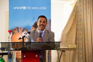 Daniel Assefa, Head of the Bureau of Plan and Finance during UNICEF's 65th anniversary in Ethiopia, World Breastfeeding Week in Tigray, August 2018. ©UNICEF Ethiopia/2018/Demissew Bizuwerk. CC BY-NC-ND 2.0