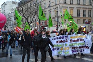Manifestation le 8 mars 2017 Paris. Crédits image : Jeanne Menjoulet CC BY-ND 2.0