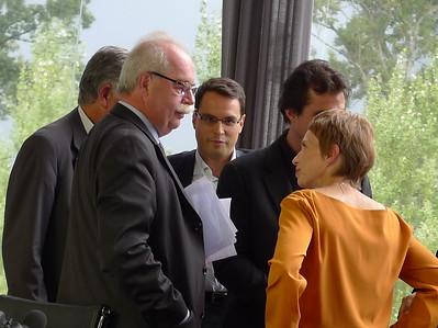 Christophe de Margerie et Laurence Parisot. Troisième journée de l'Université du Medef 2009. Crédit image : Pierre Metivier, CC BY-NC 2.0