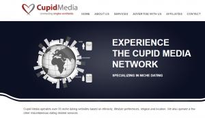 Capture écran du web de l'agence matrimoniale Cupidmedia