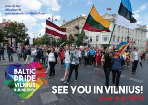 Affiche de l'organisation lettonne de défense des droits LGBT pour la Baltic Pride 2019. Source : site web de www.lgl.lt
