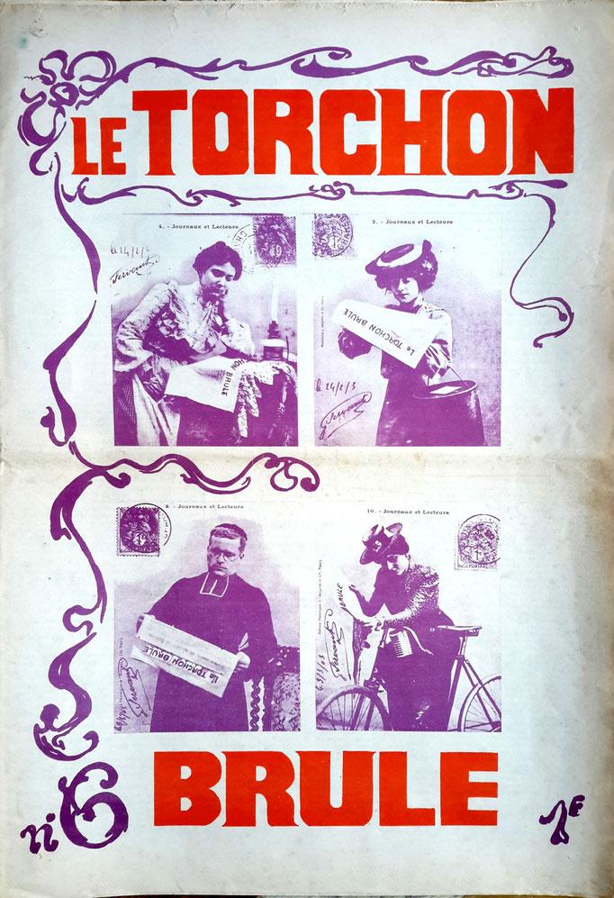 """Couverture du mensuel """"Le Torchon Brûle"""", 1971. Crédits image inconnus"""