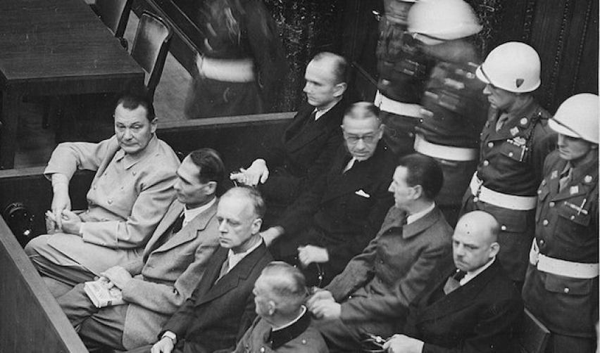 Photo of the Nuremberg trial