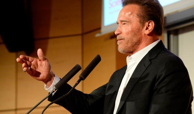 Arnold Schwarzenegger à Sciences Po
