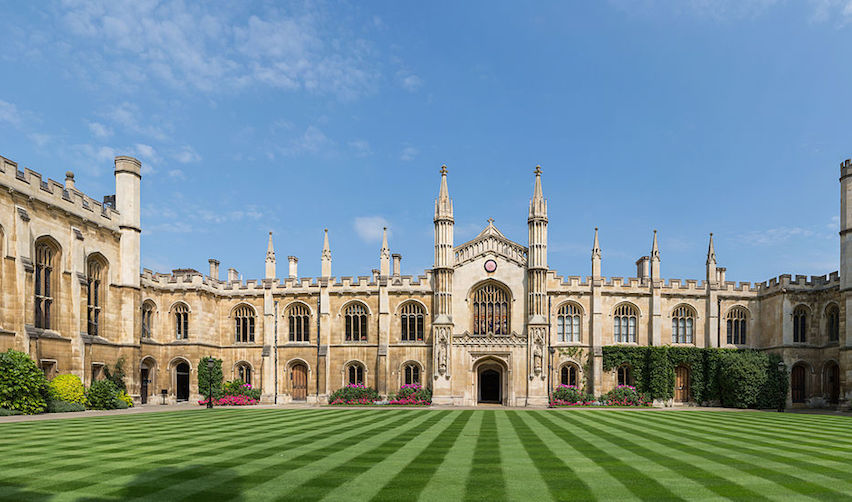 New Court, Corpus Christi College, Cambridge, England.