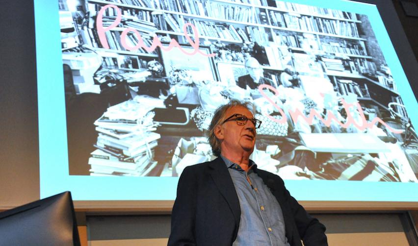 Paul Smith giving a masterclass at Sciences Po
