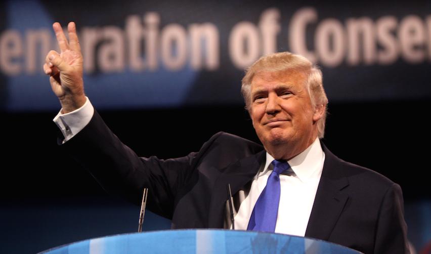 Donald Trump lors d'une intervention publique en 2013 (Maryland, USA)