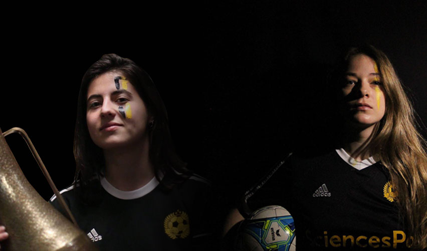 Female Football Team Captains: Juliette Hurier and Matilde Alvarez
