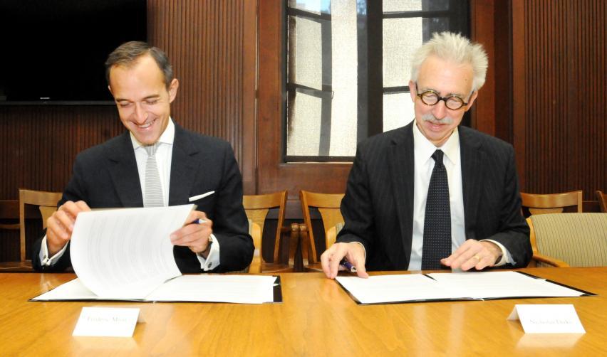 Frédéric Mion (Sciences Po) and Nicholas Dirks (UC Berkeley)