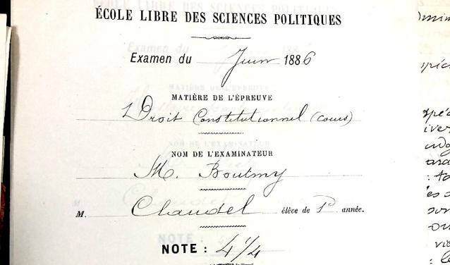 Paul Claudel: An Incidental Diplomat