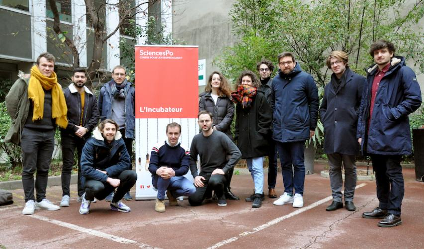 Les fondateurs des startups incubées - @Thomas Arrivé - Sciences Po
