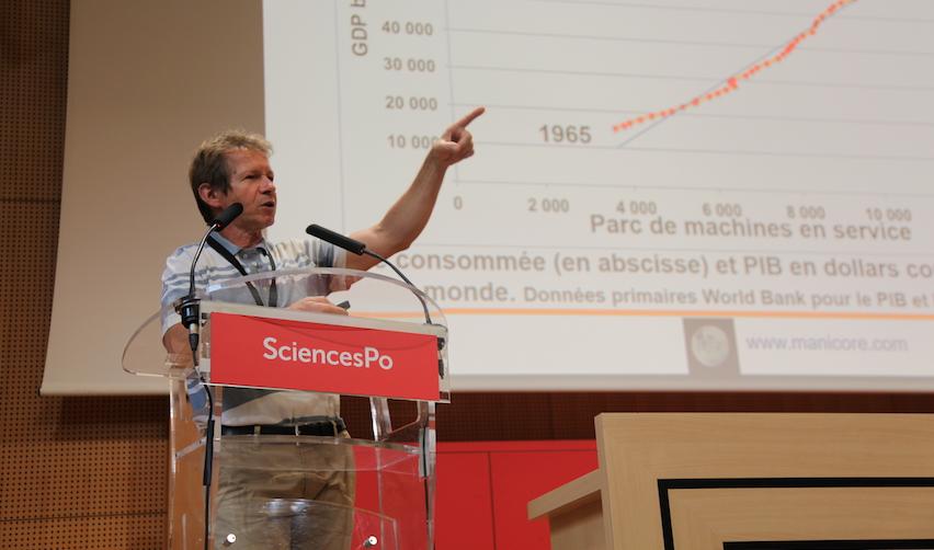 Jean-Marc Jancovici en leçon inaugurale à Sciences Po le 29 août 2019