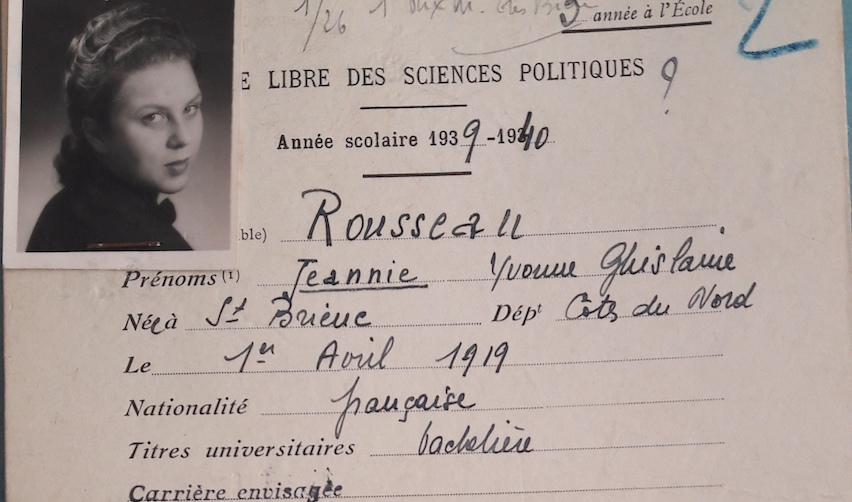 Report card of Jeannie de Clarens at Sciences Po