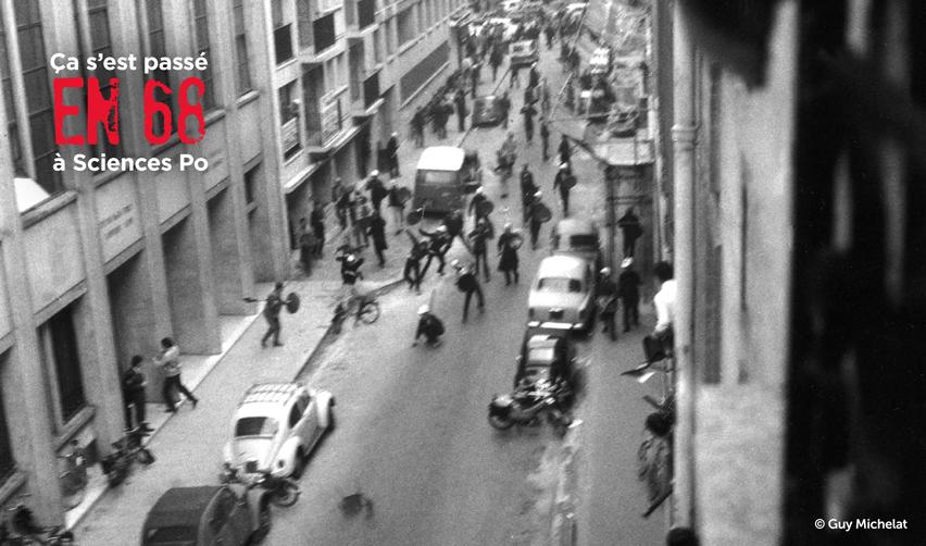 Affrontements dans la rue Saint-Guillaume en 1968