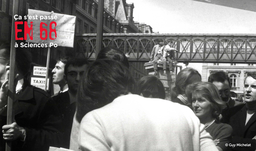 Manifestation du 13 mai 1968 : Hélène Arnaud, Alain Lancelot et Josée Cabillon