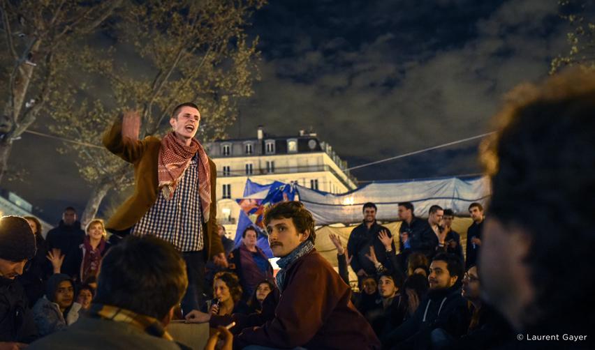 Le mouvement Nuit debout à République