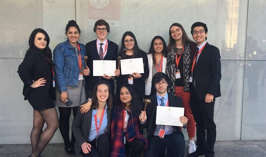 Sciences Po students at the 2019 WorldMUN in Madrid.