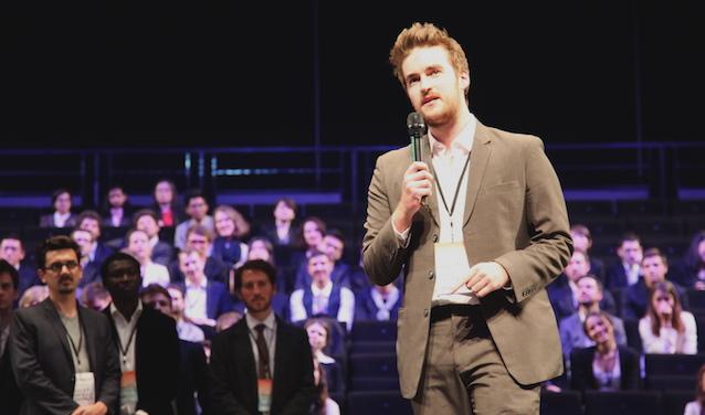 Nathan Stewart, un des étudiants négociateurs, membre de la délégation Ethiopie