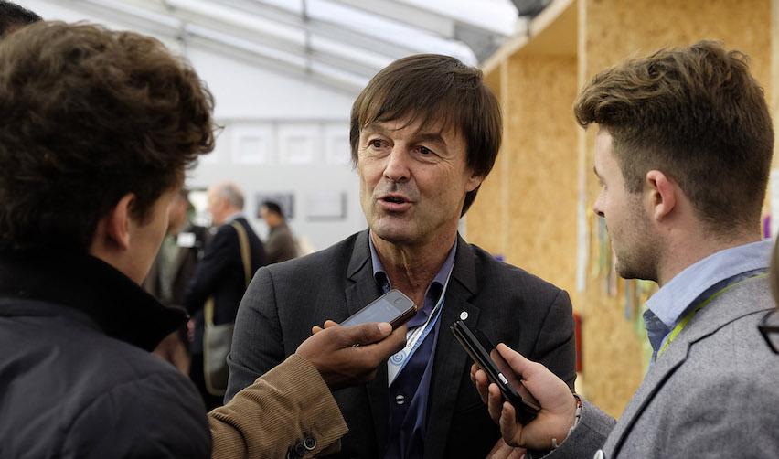 Décembre 2015, Paris : Nicolas Hulot à la COP de Paris
